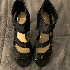 Black Lace Jessica Simpson Sandal
